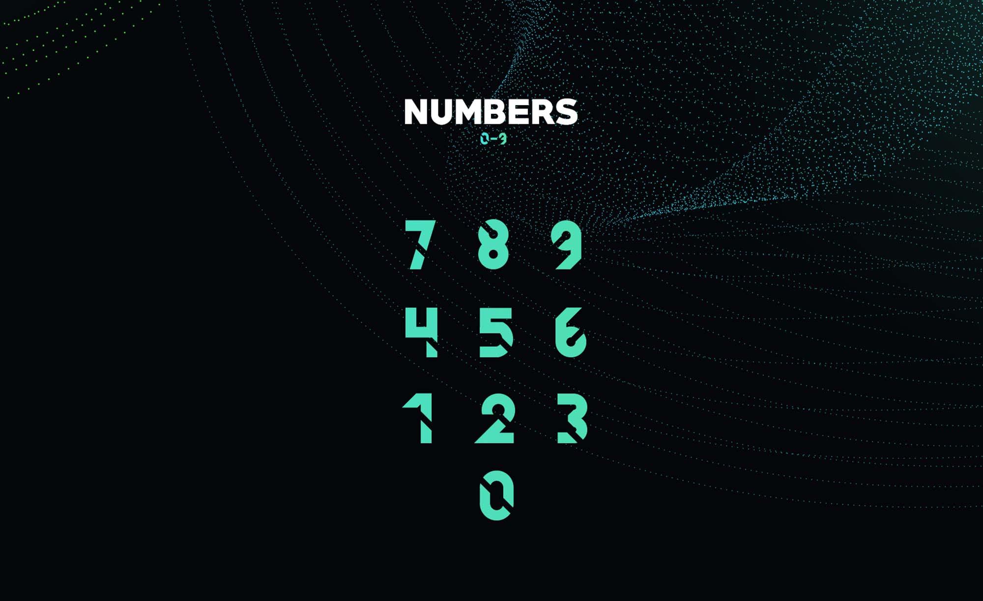 Quantum Font Numbers