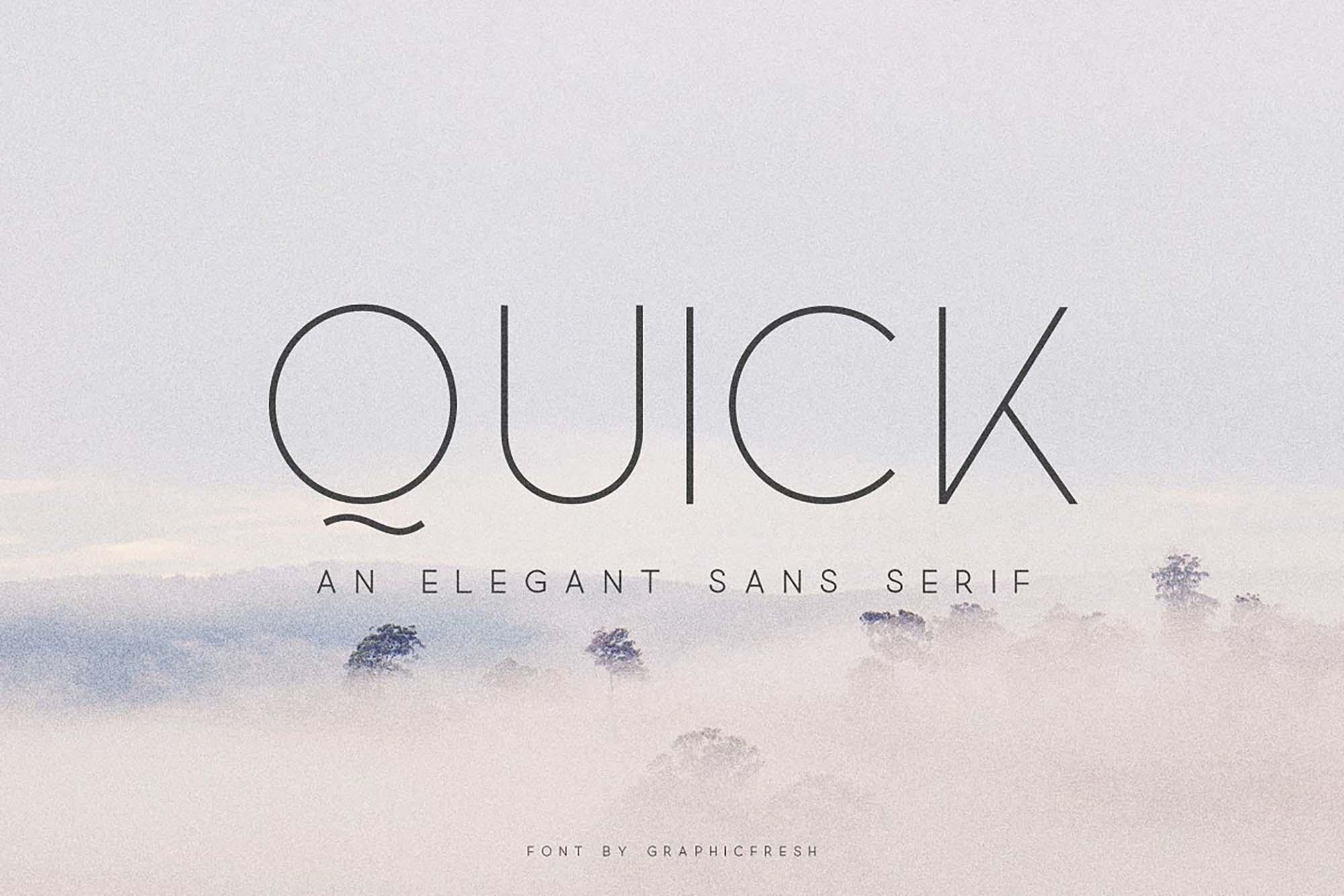 Quick Sans Serif Font