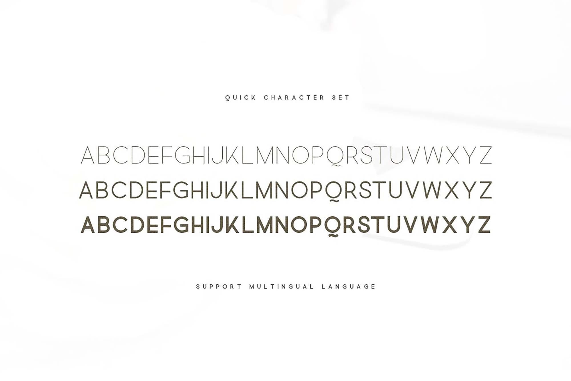 Quick Sans Serif Font 4
