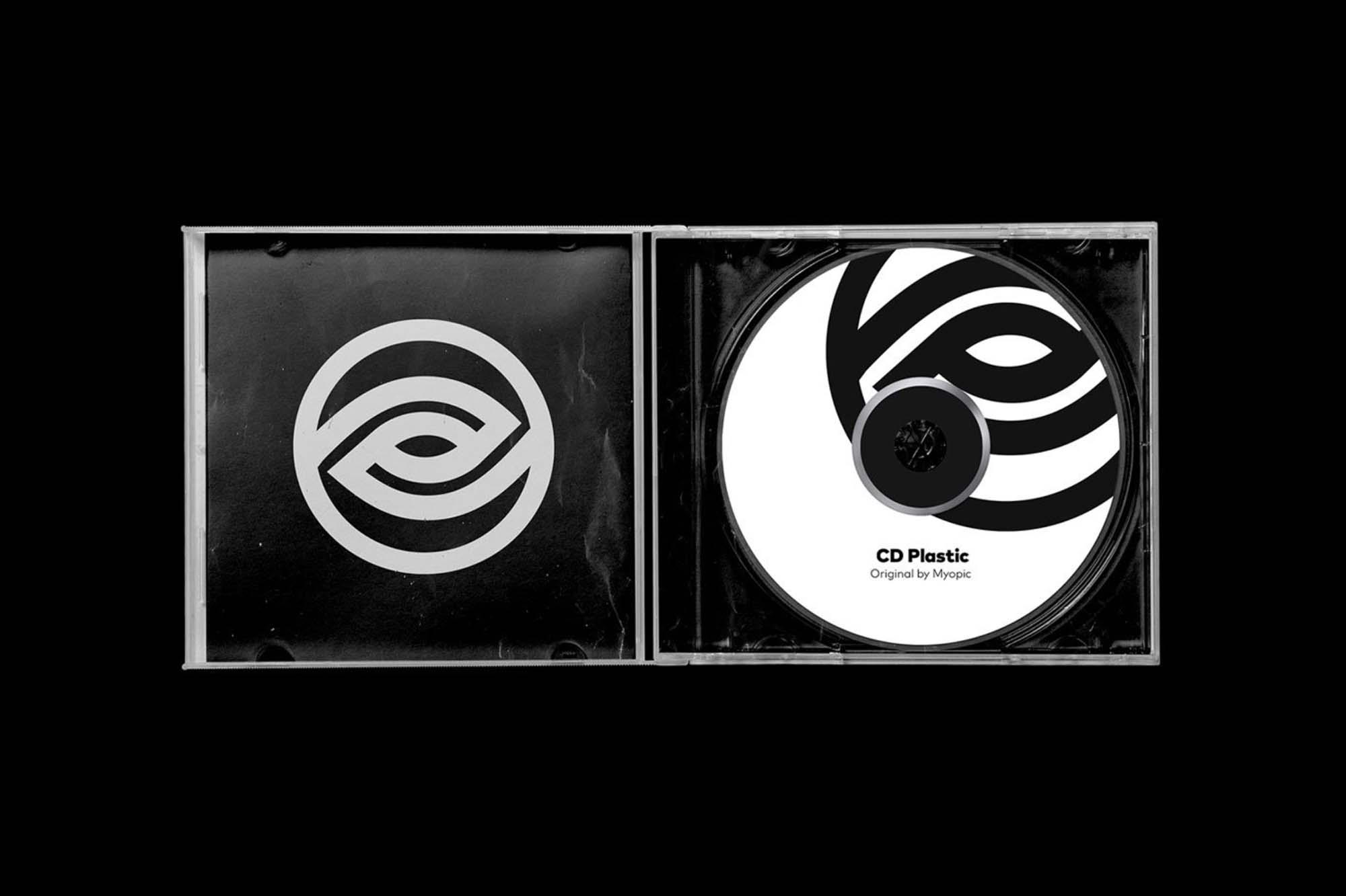 CD Retro Design Mockup
