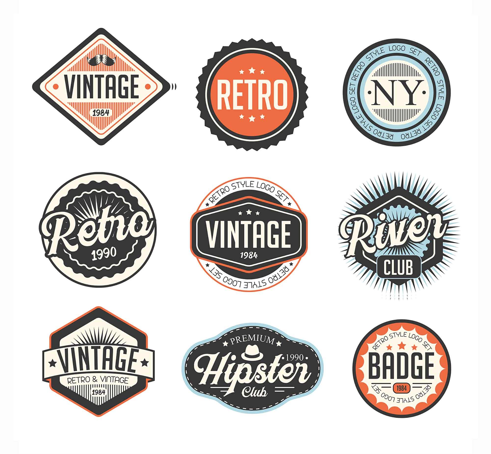 Retro Vector Badges