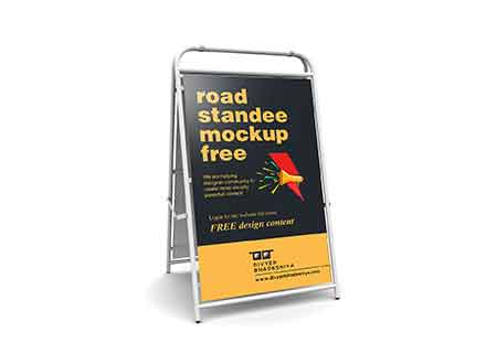 Road Standee Mockup