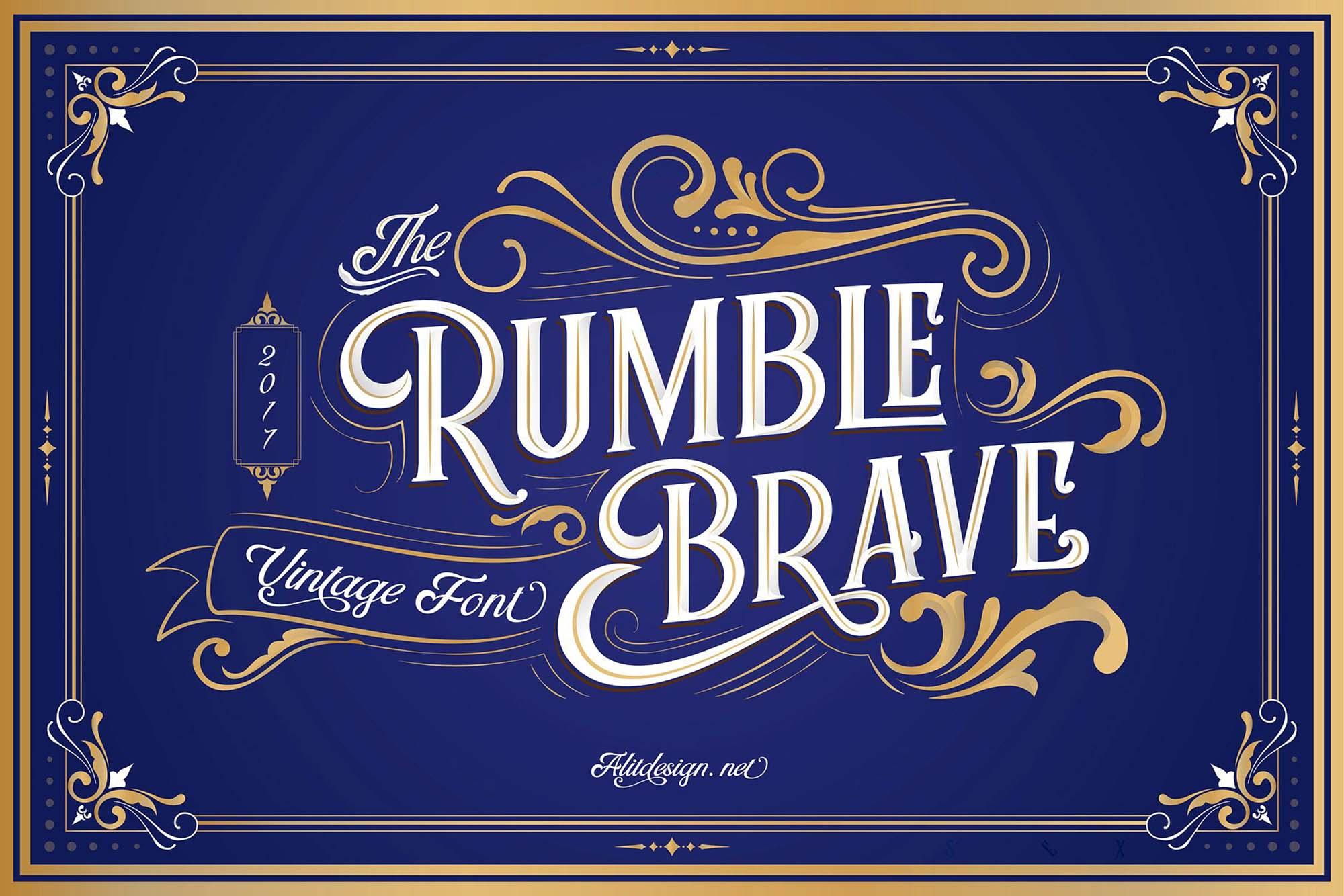 Rumble Brave Font