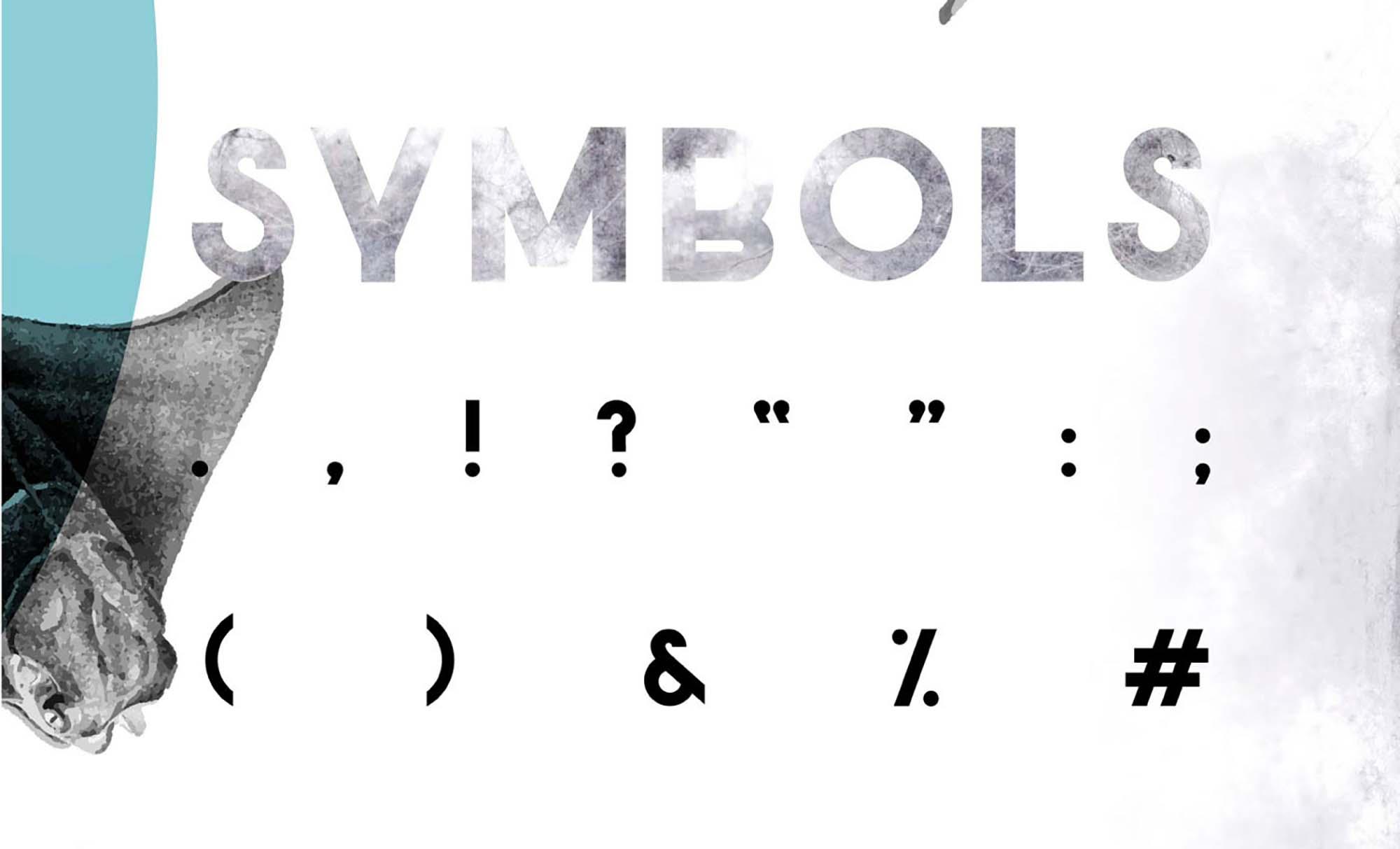 Salt Sans Serif Font Symbols