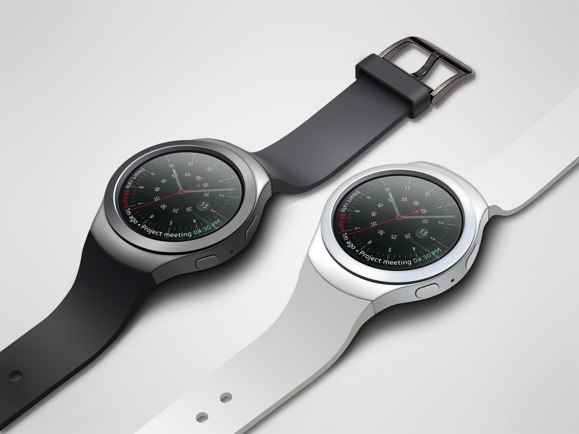 Samsung Gear S2 Watch Mockup