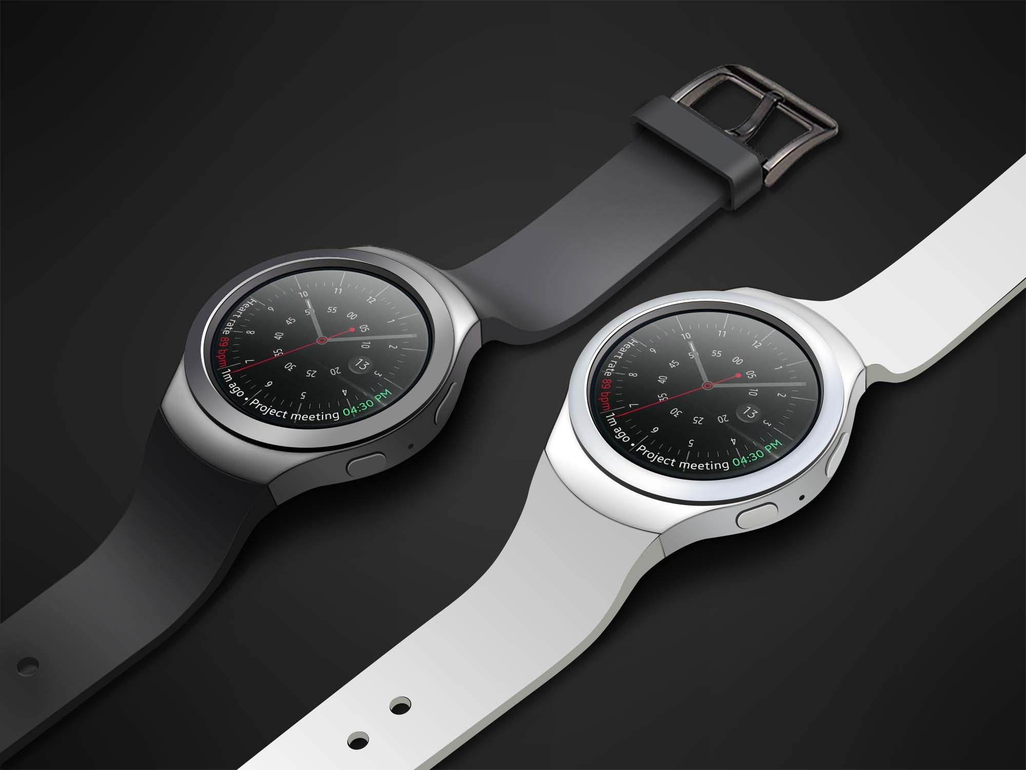 Samsung Gear S2 Watch Mockup 2