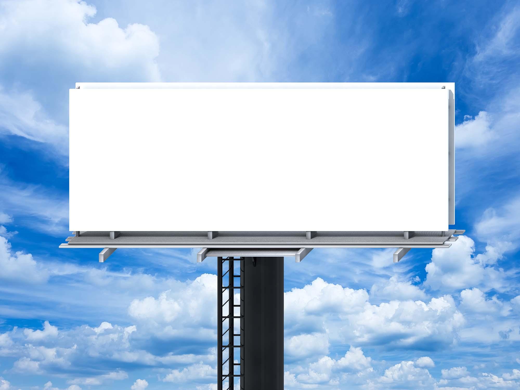 Sky Outdoor Billboard Mockup 2