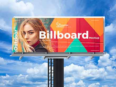 Sky Outdoor Billboard Mockup