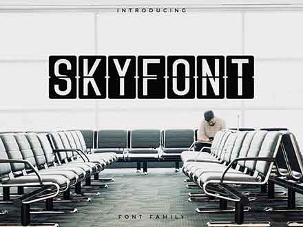 Skyfont Sans Serif Font