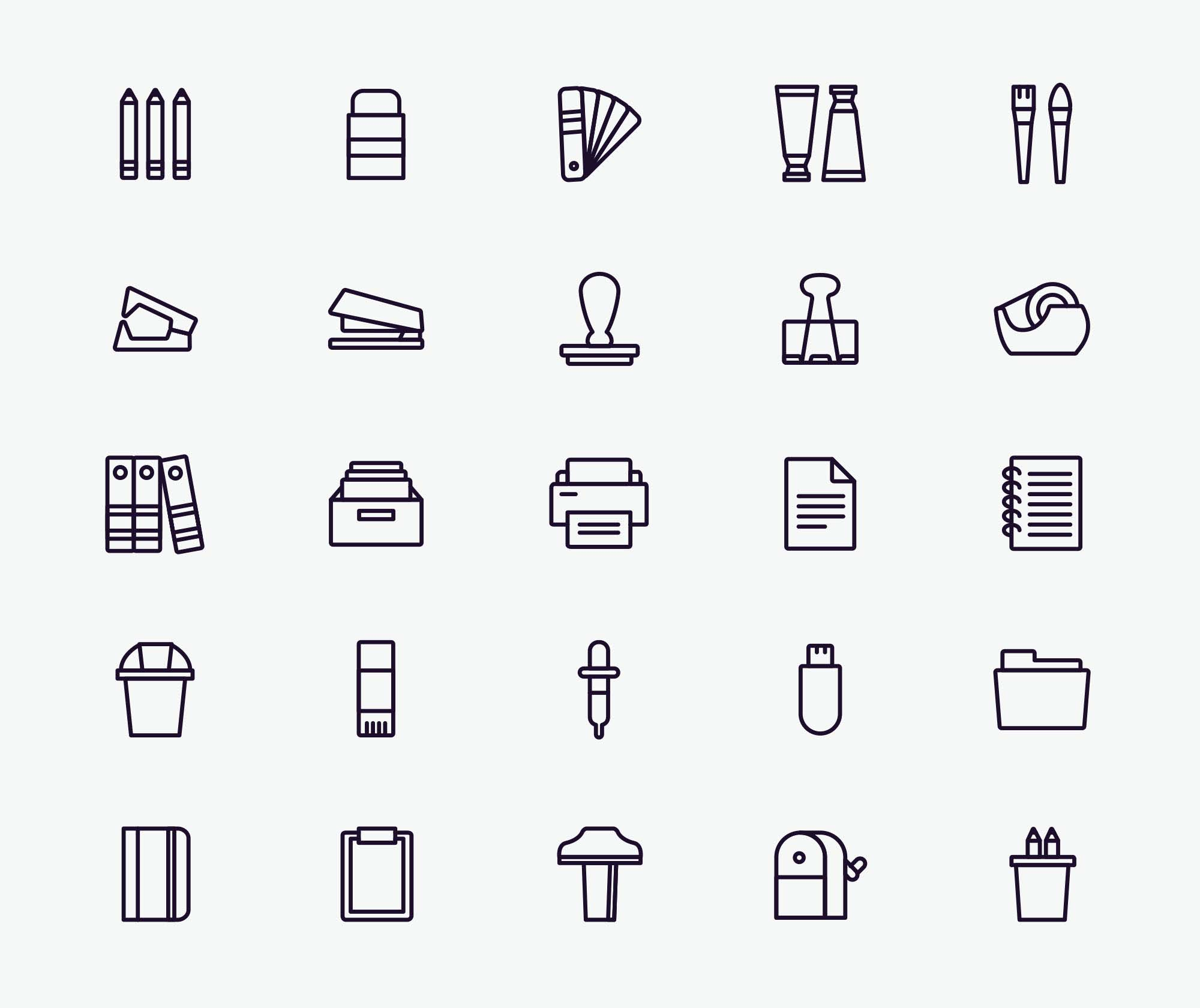 Stationery Vector Icons 2
