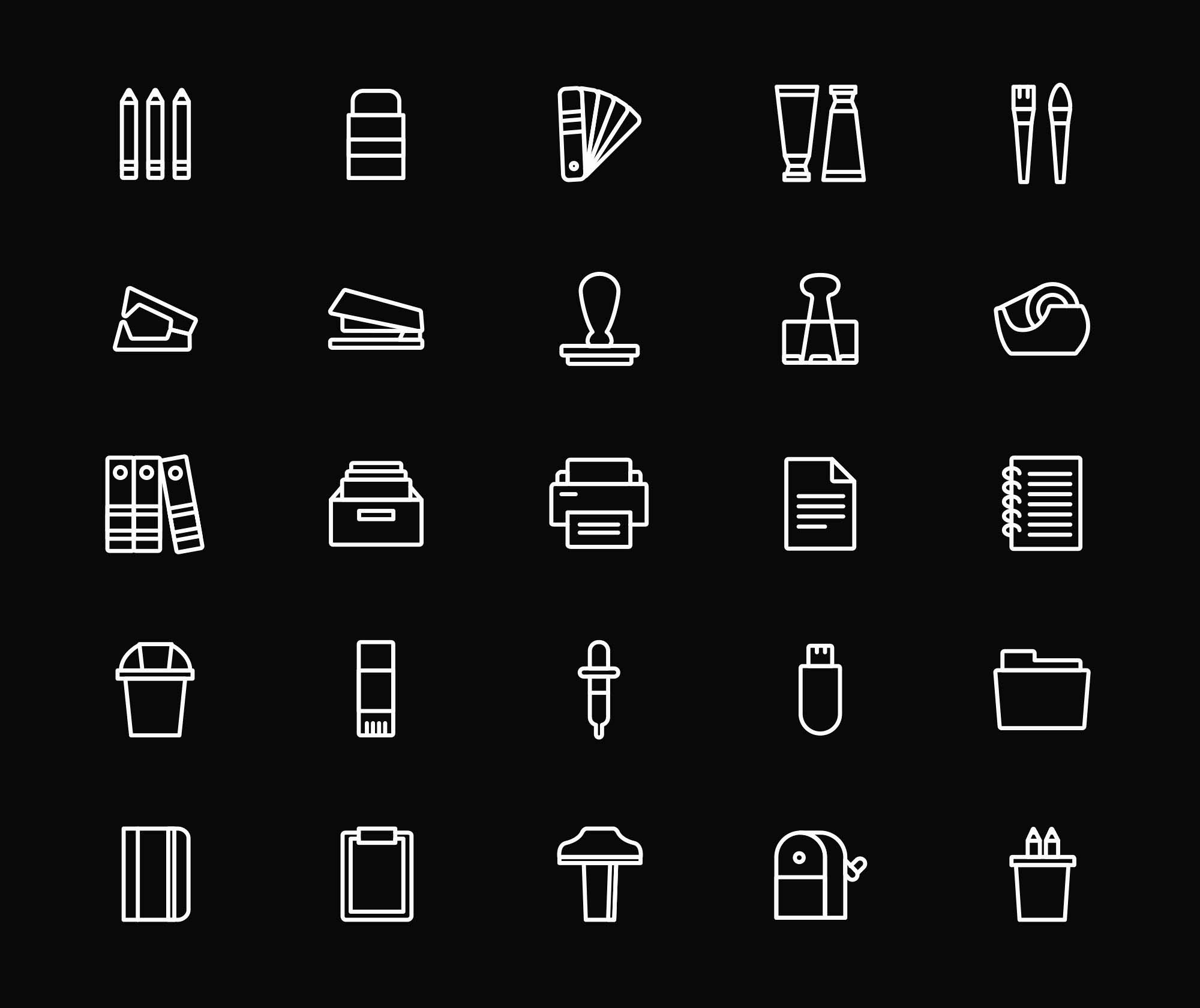 Stationery Vector Icons 3