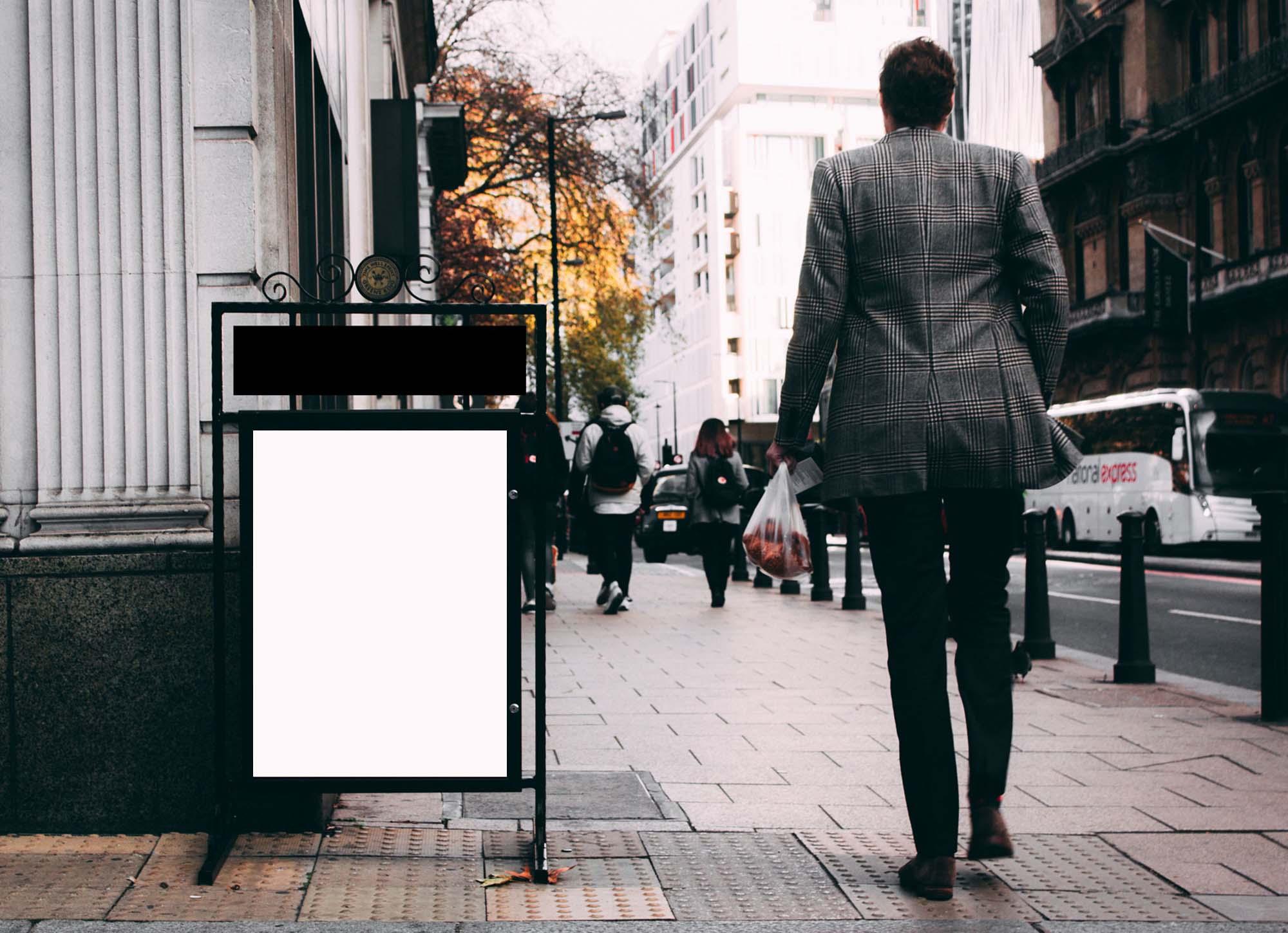 Street Poster Sign Mockup 2