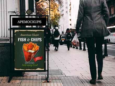 Street Poster Sign Mockup