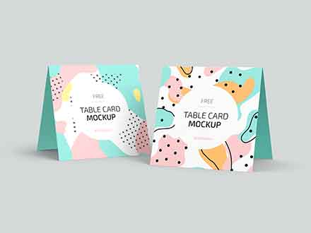 Table Card Mockup