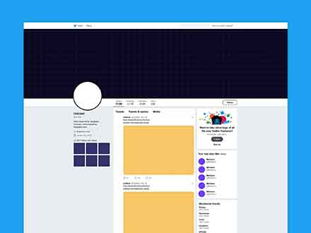 Twitter Page Mockup