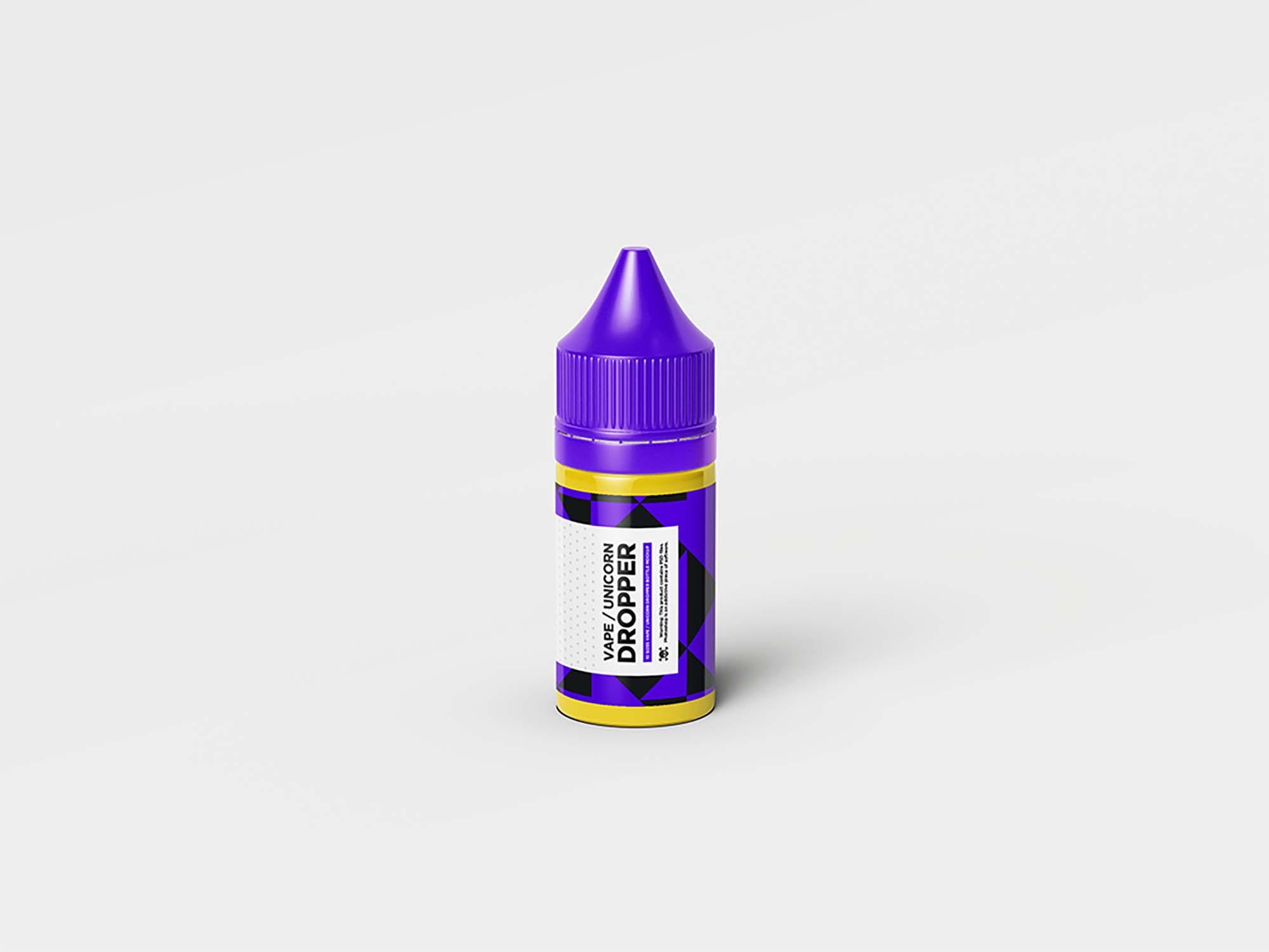 Unicorn Dropper Bottle Mockup