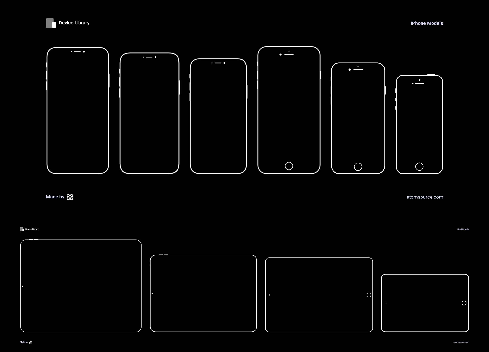 Vector iPhone and iPad mockups 2