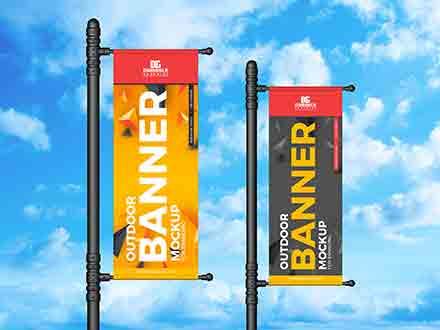Vertical Banner Mockup