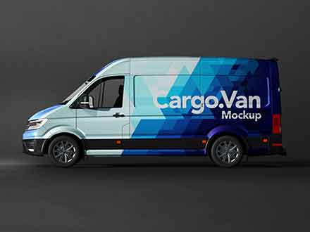 Vinyl Van Wrapping Mockup