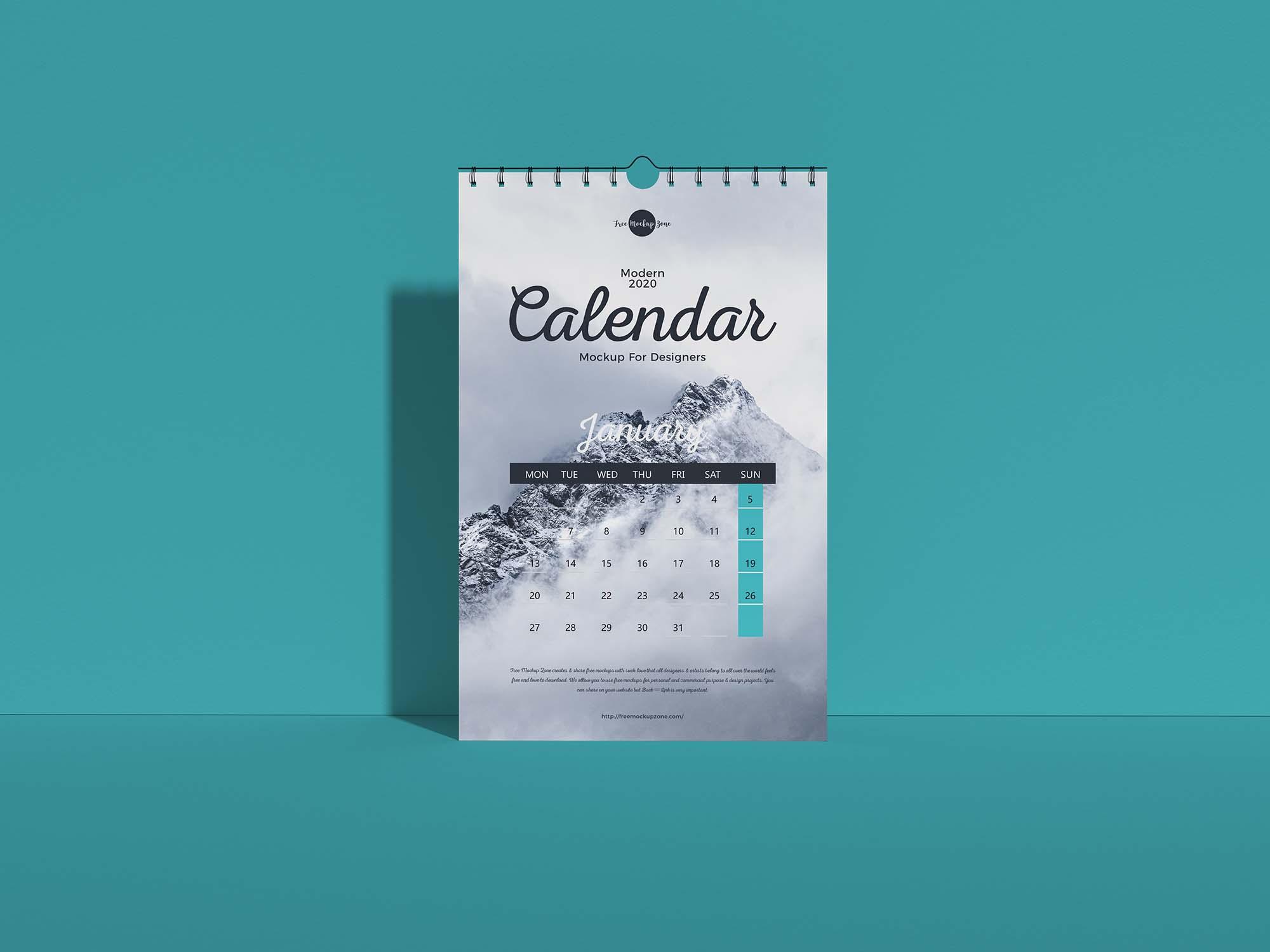 Wall Calendar Mockup 2