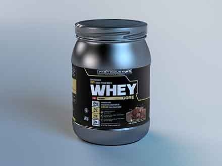 Whey Protein Label Mockup