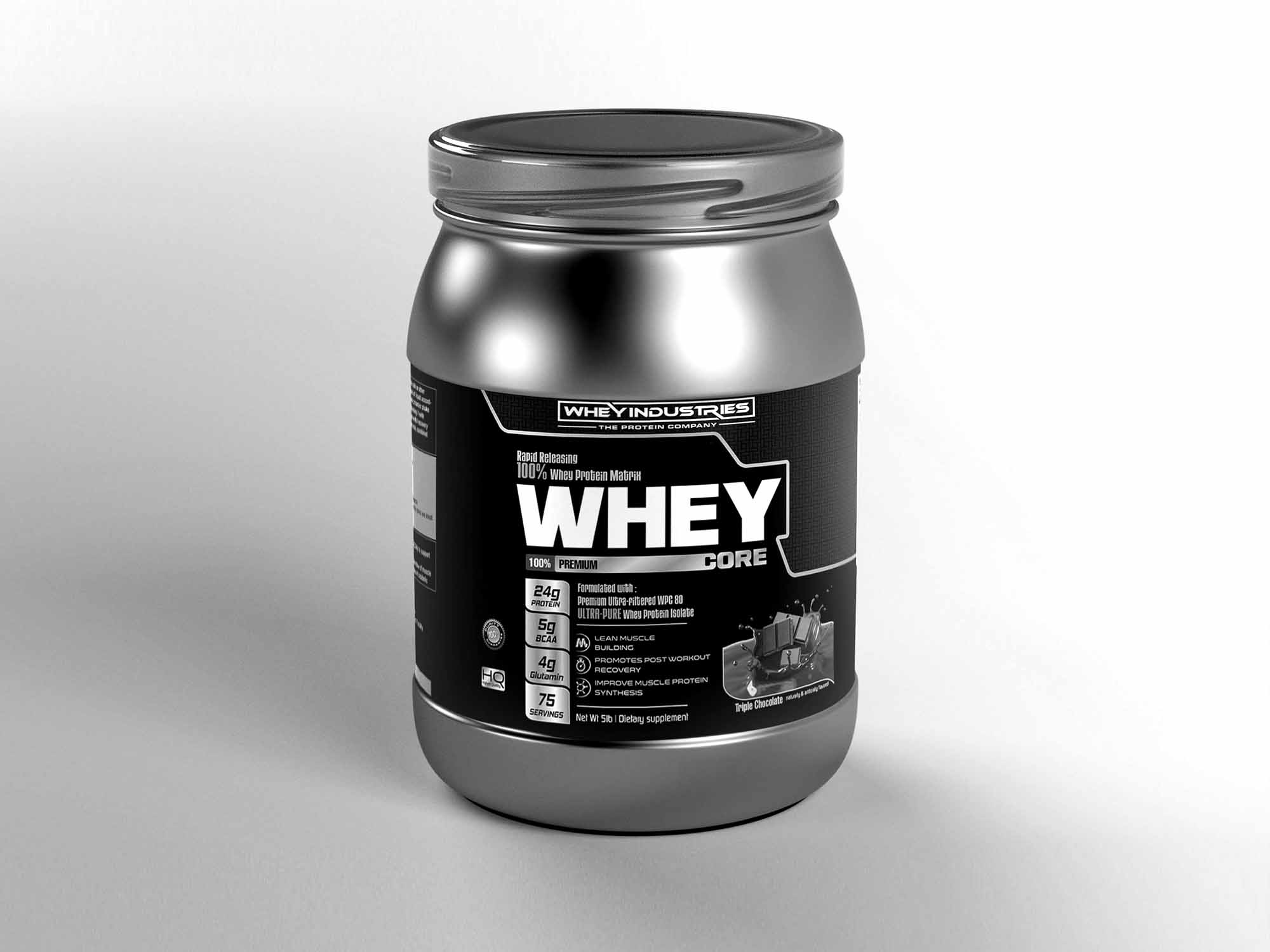Whey Protein Label Mockup 2