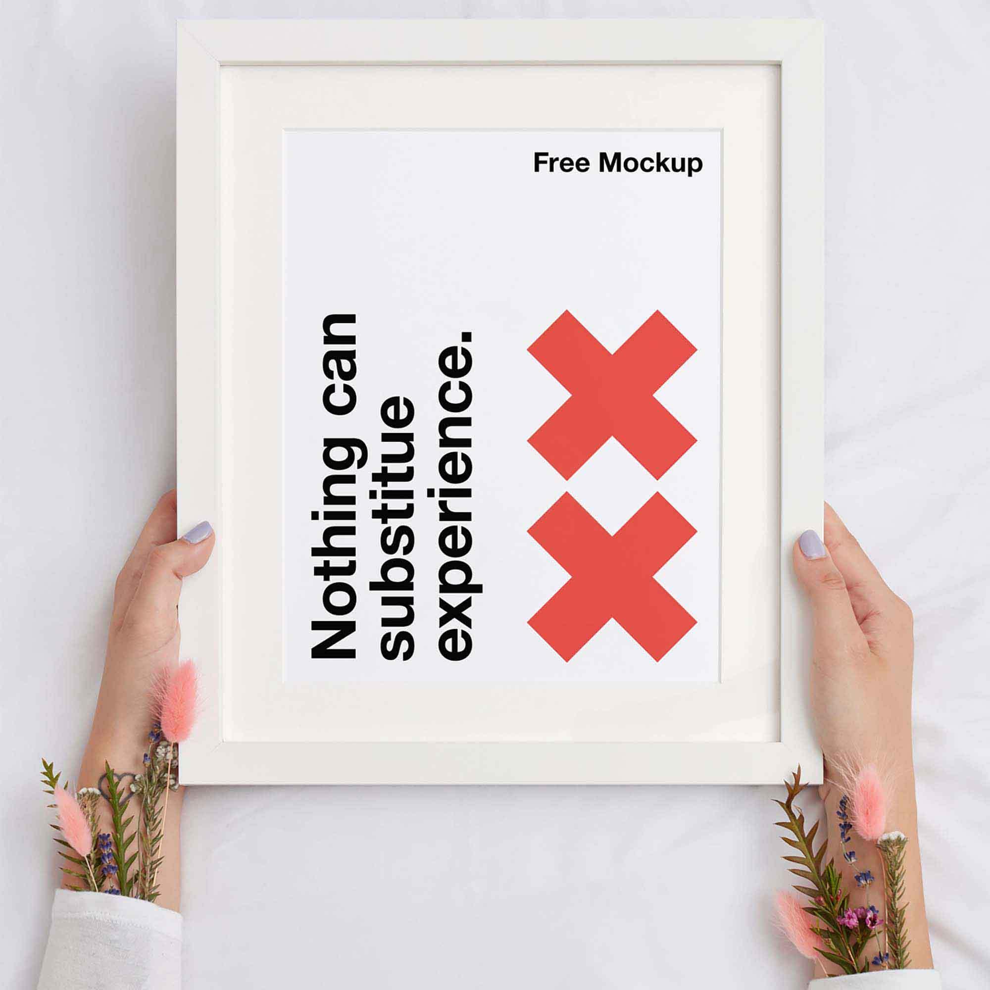 White Frame Poster Mockup