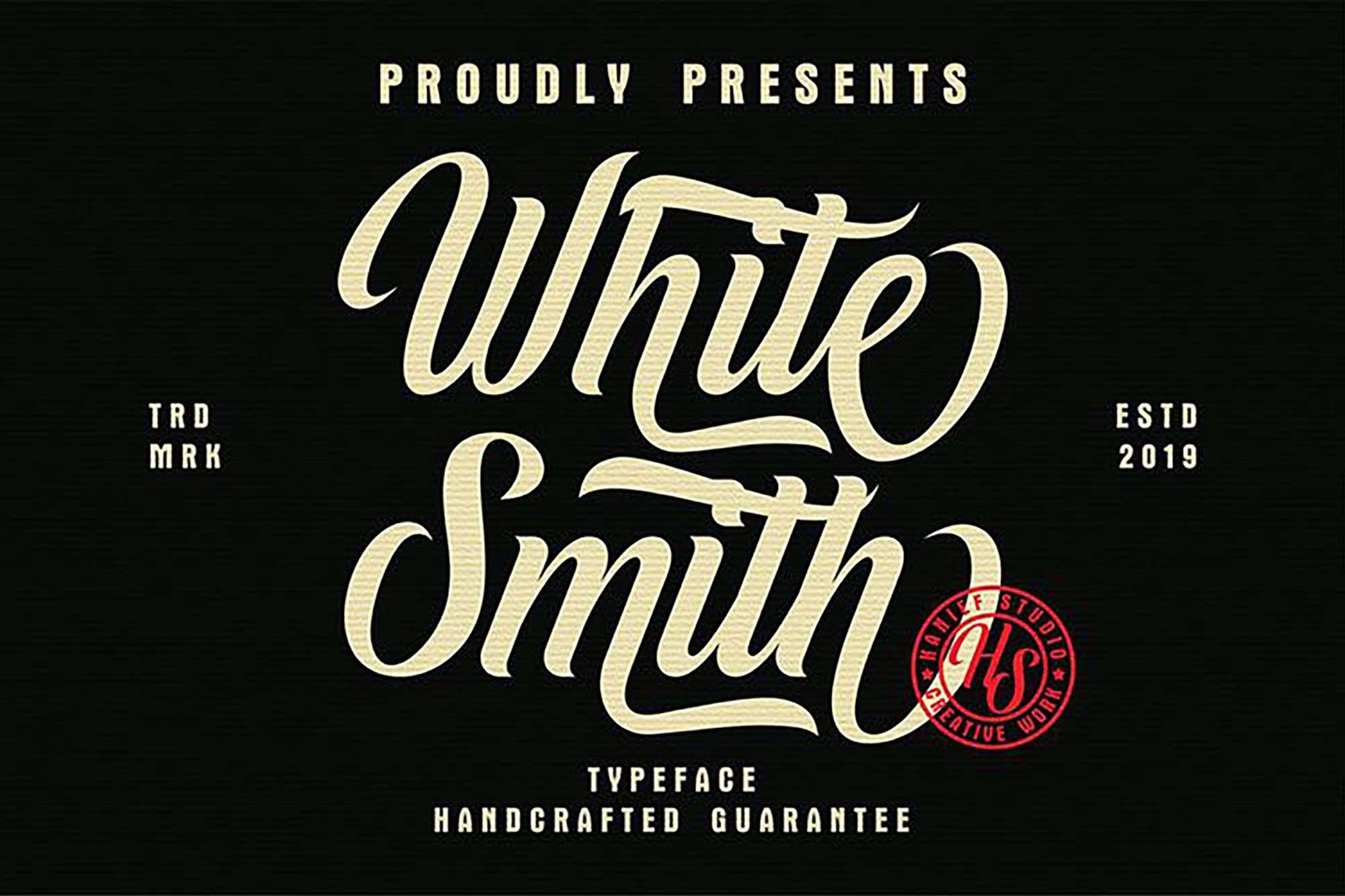 White Smith Script Font