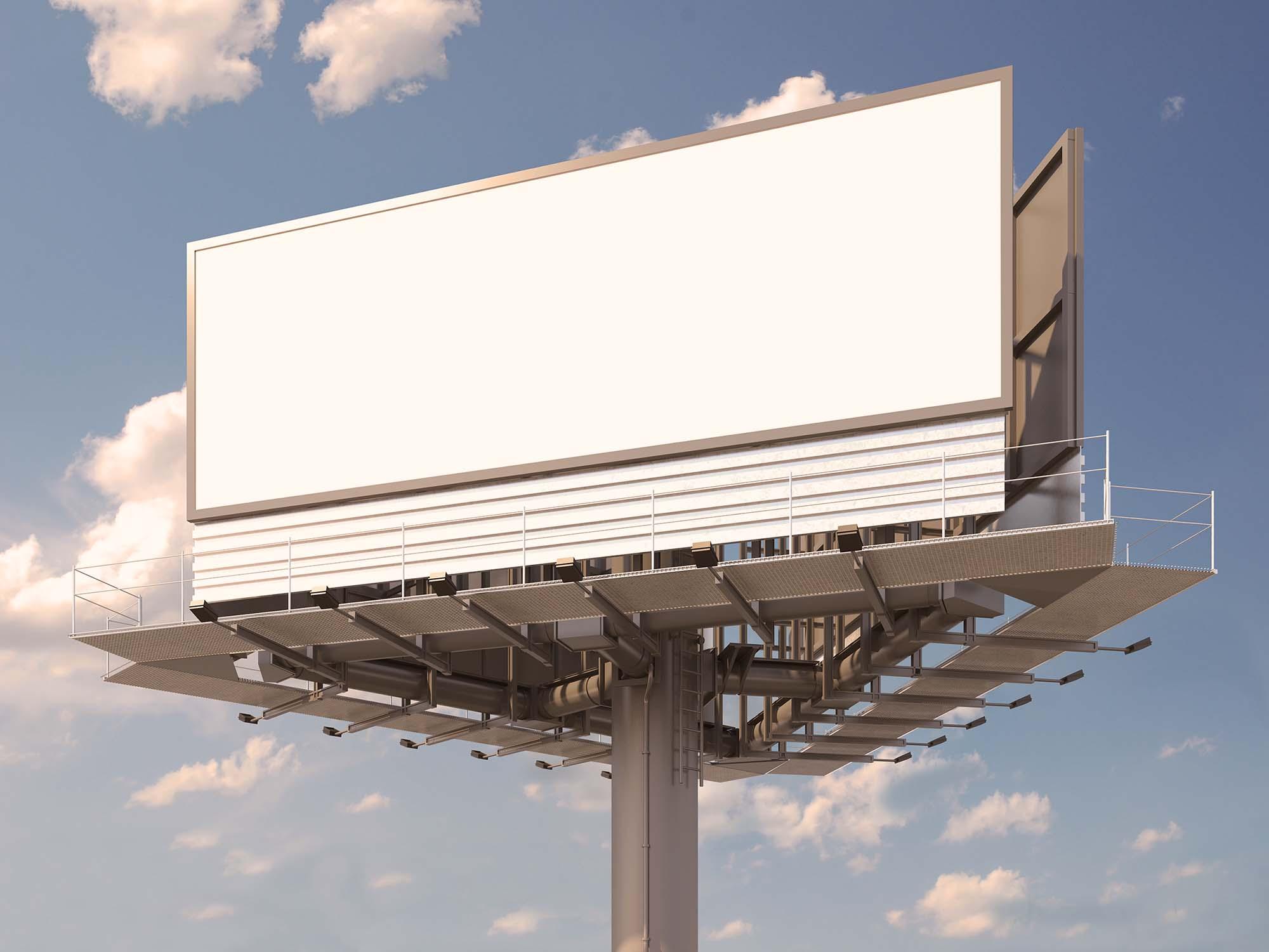Wide Billboard Mockup 2