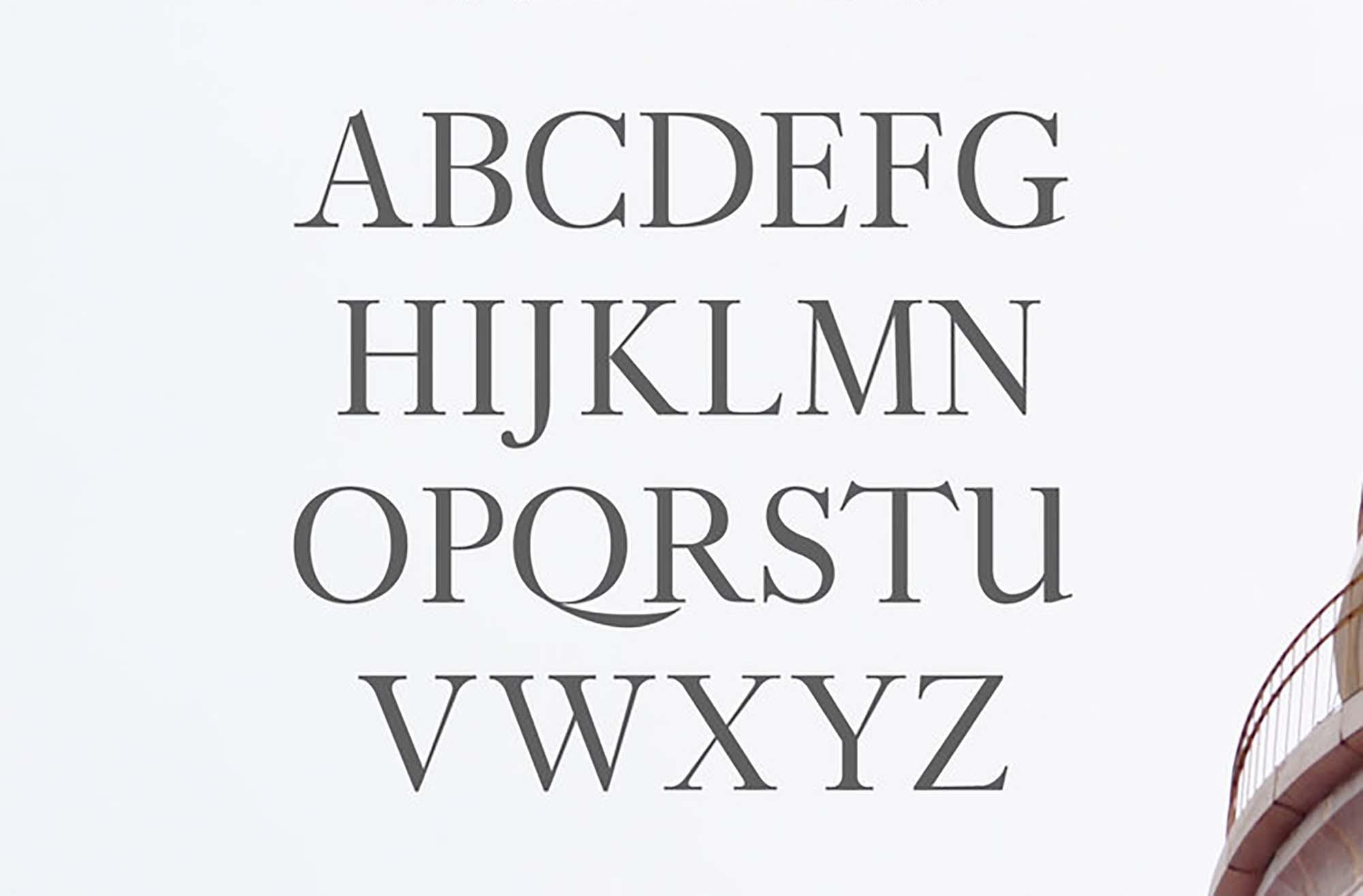 Adallyn Serif Font Uppercase Letters