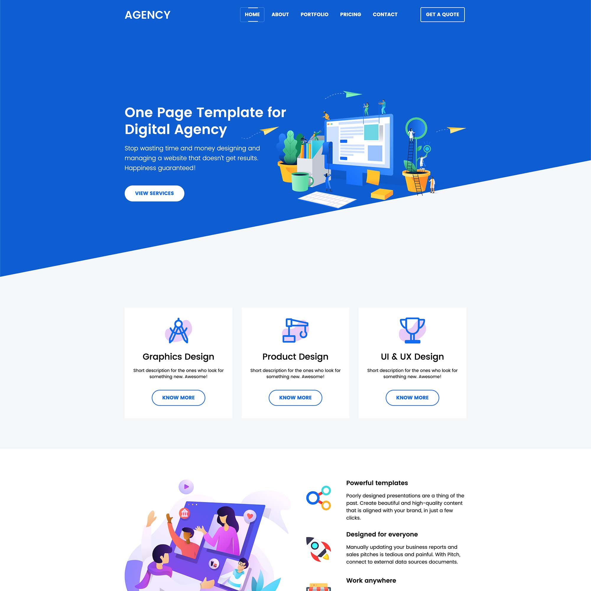 Agency Landing Page 1