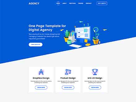 Agnecy Landing Page Template