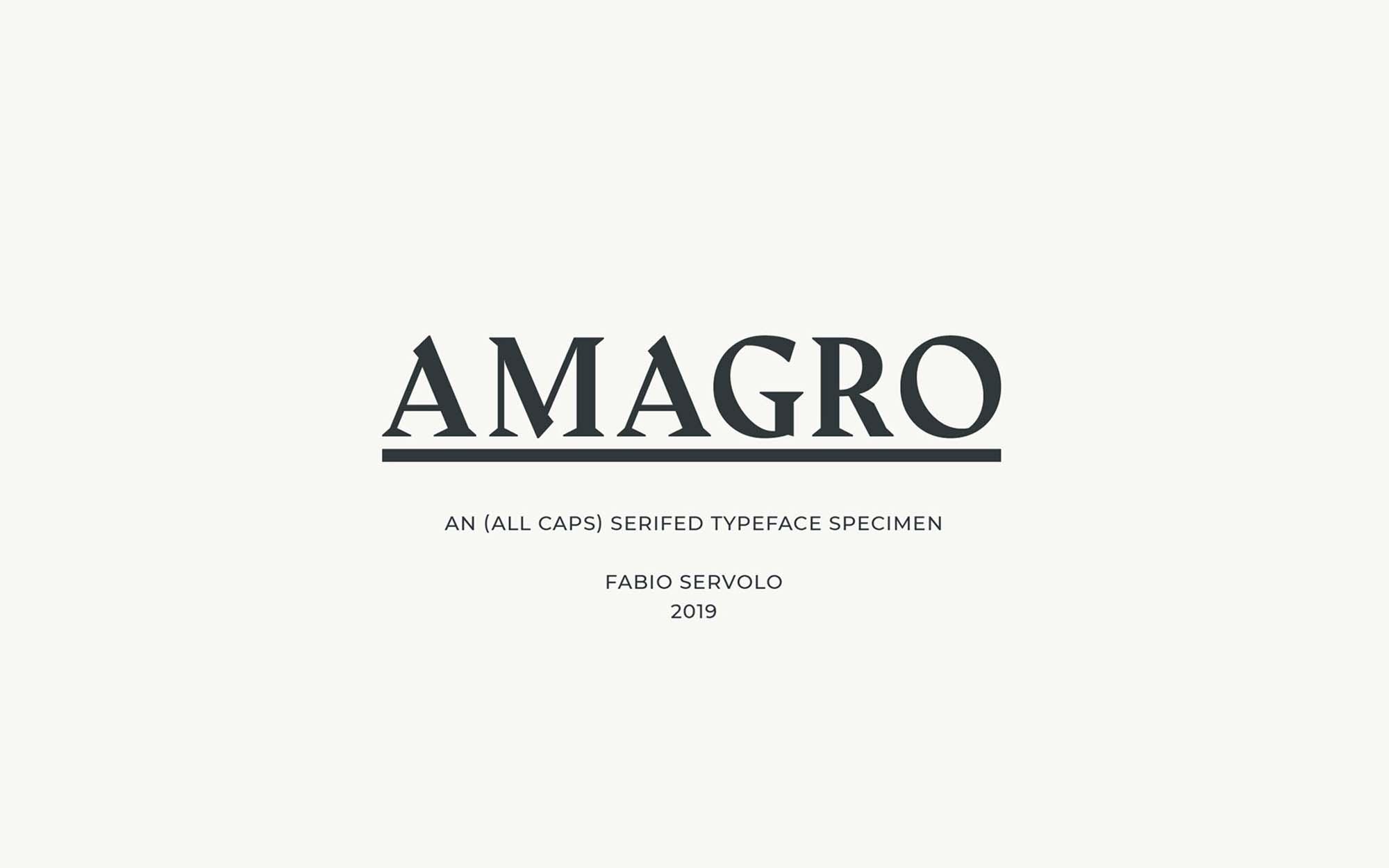 Amagro Typeface