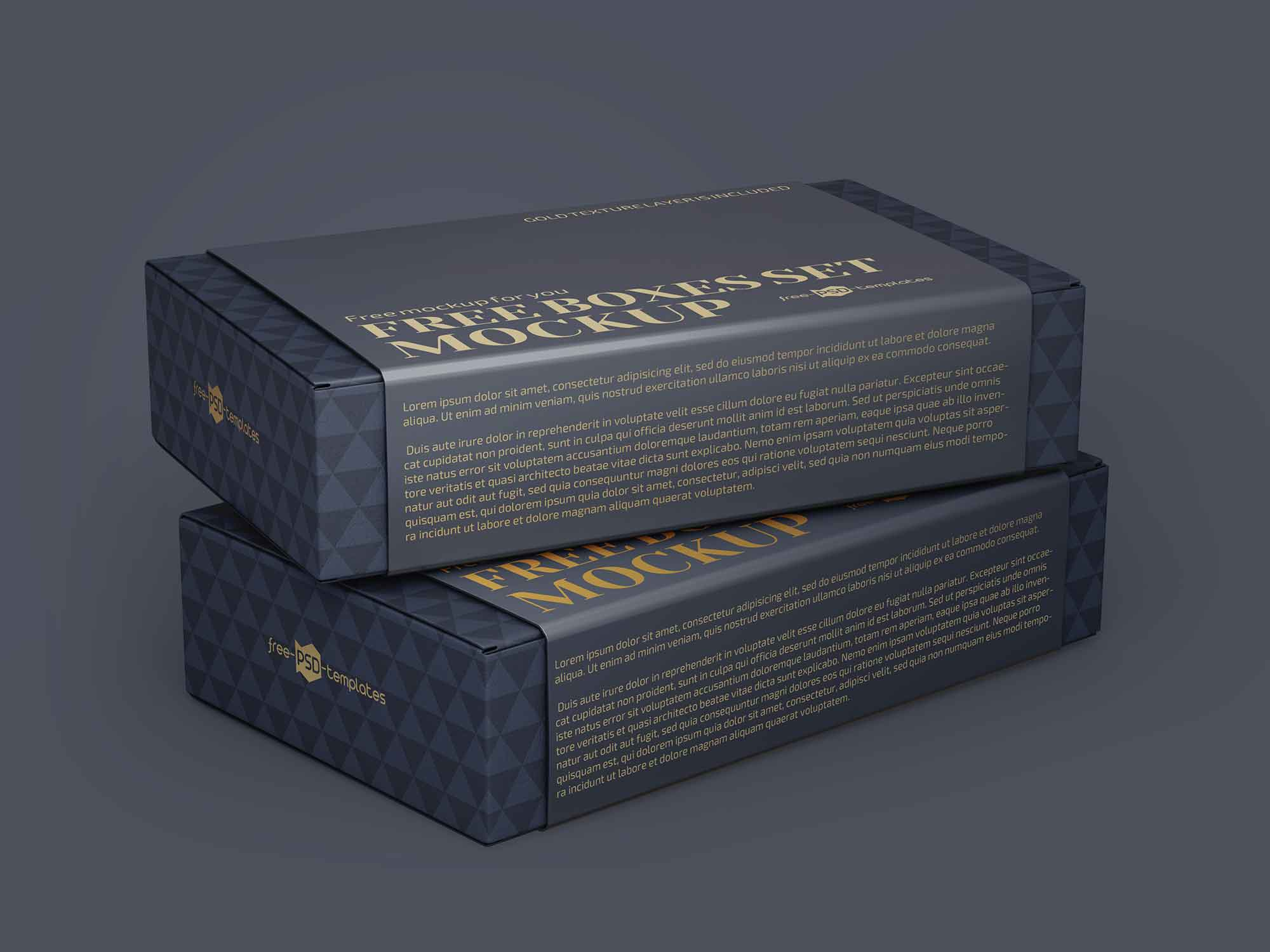 2 Boxes Mockup