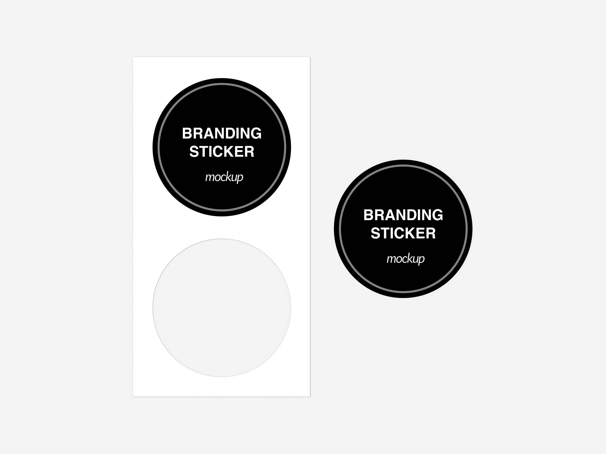 Branding Sticker Mockup 2