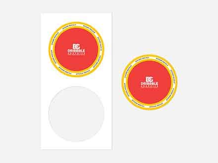 Branding Sticker Mockup