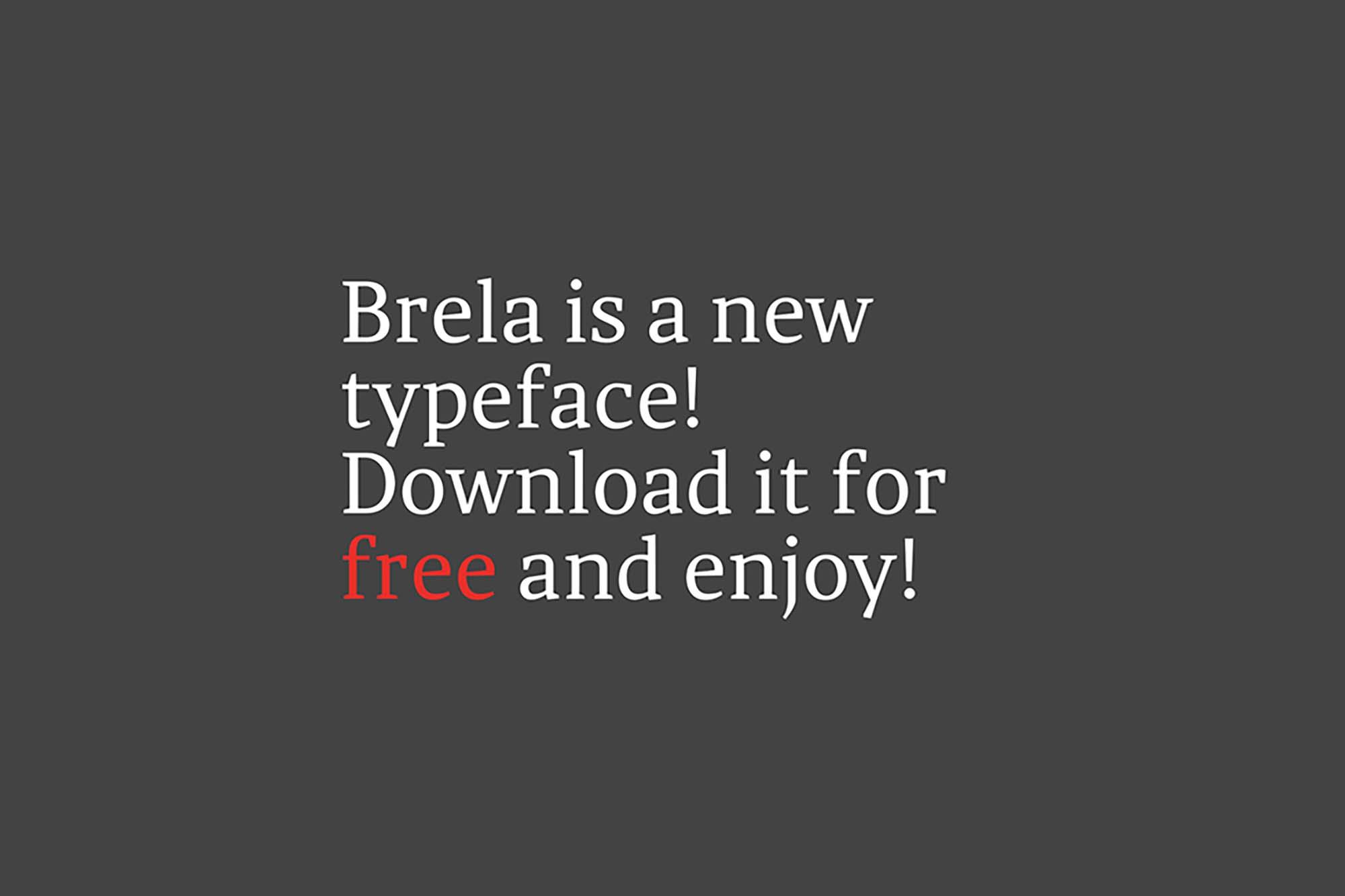 Brela Serif Typeface 1
