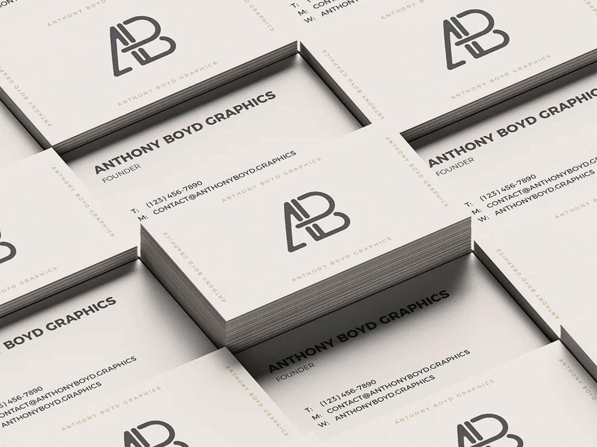 Business Card Grid Mockup