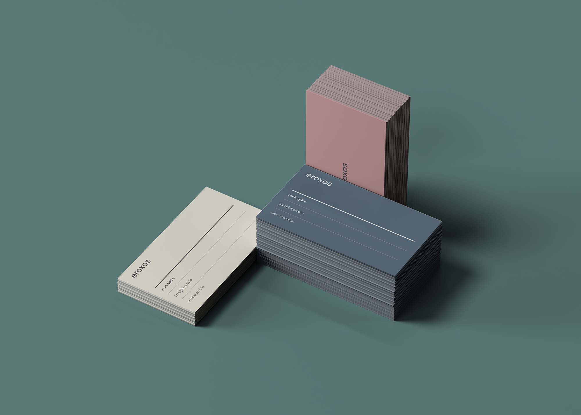 Business Card Stacks Mockup 2
