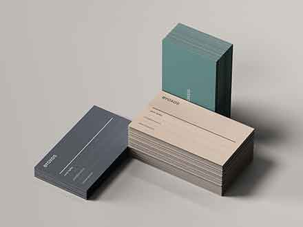 Business Card Stacks Mockup