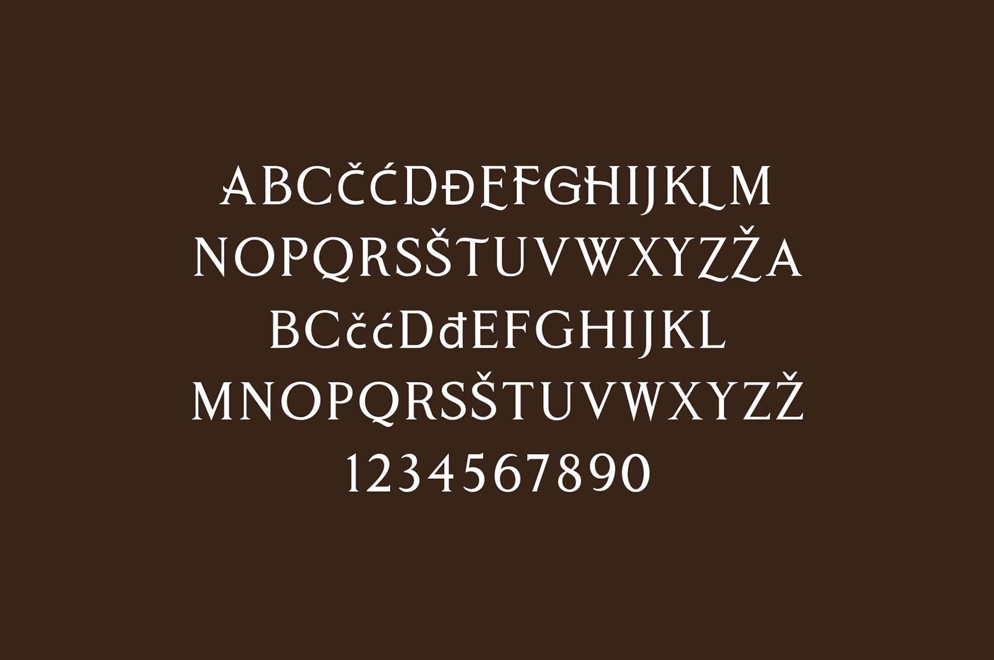 Cobaissi Serif Typeface Letters