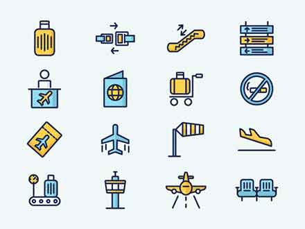 Colored Airport Icons