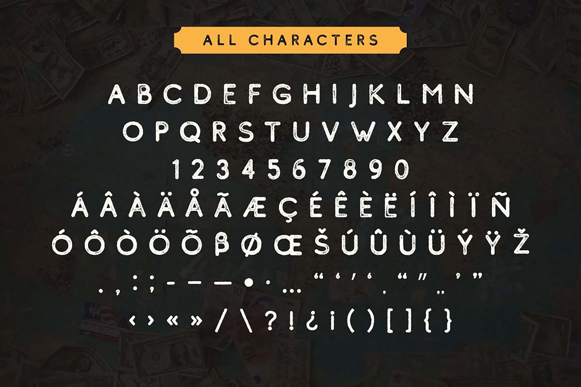 Comodo Sans Serif Font Letters