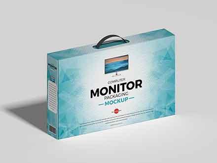Computer Monitor Packaging Mockup