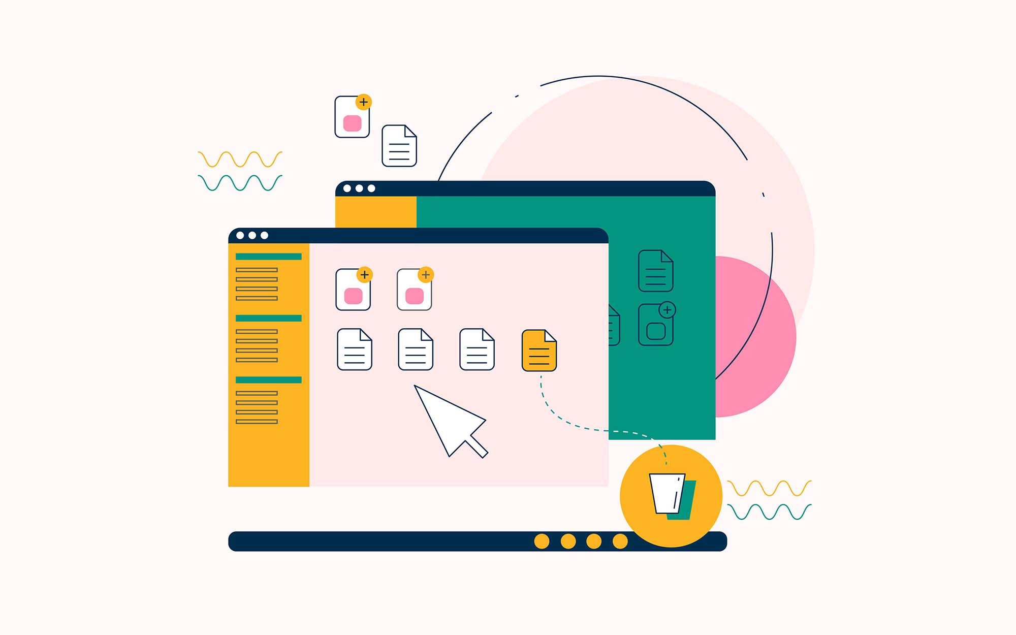 Computer Workspace Illustration