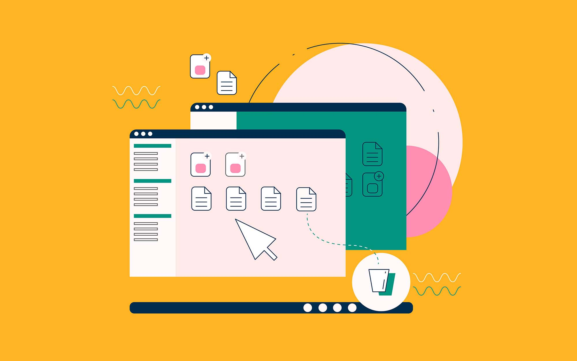 Computer Workspace Illustration 2