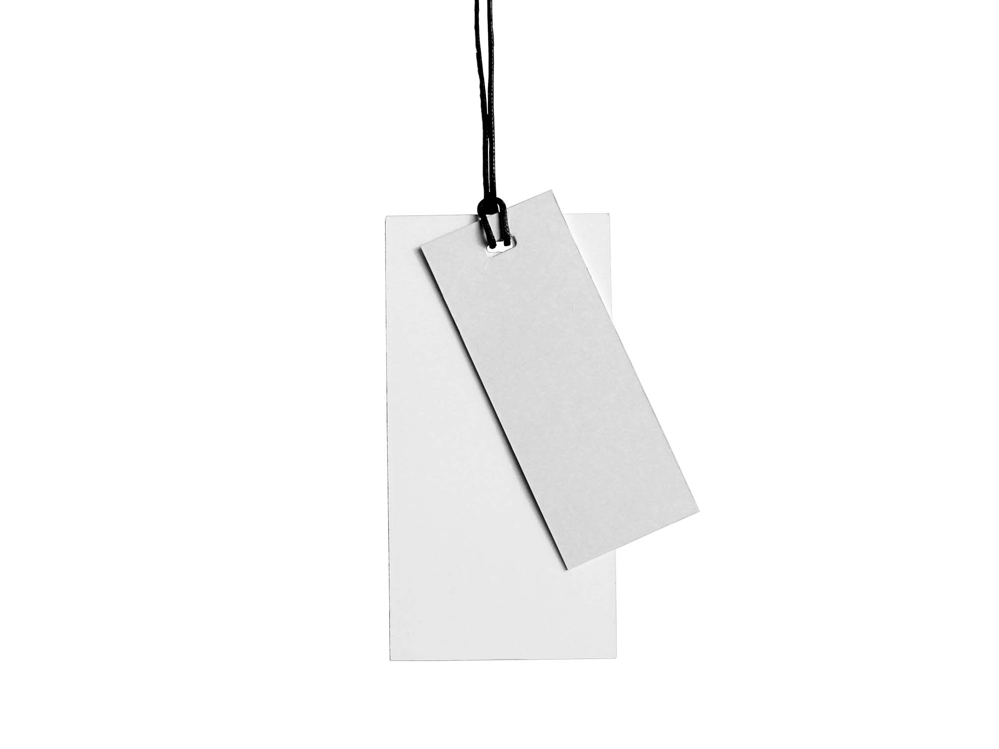 Dual Cloth Hanging Tag Mockup 2