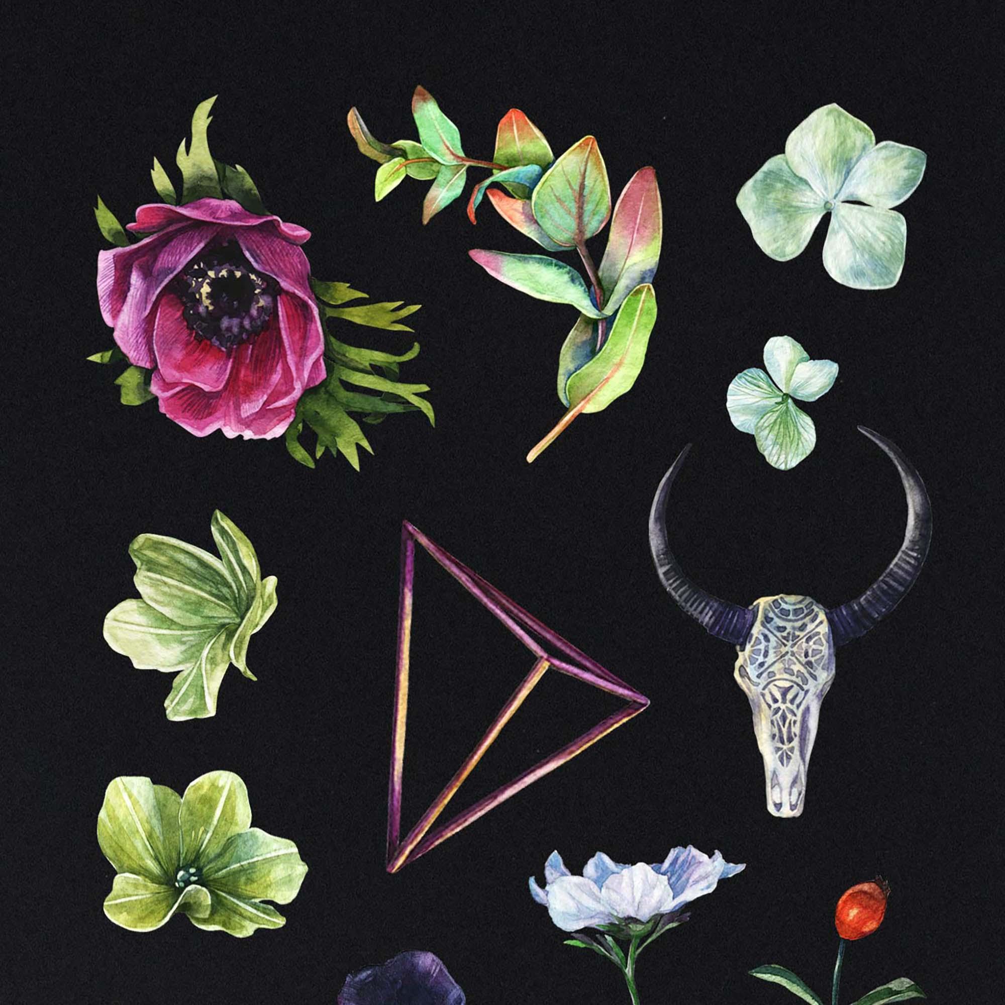 Enchanted Watercolor Clipart 1