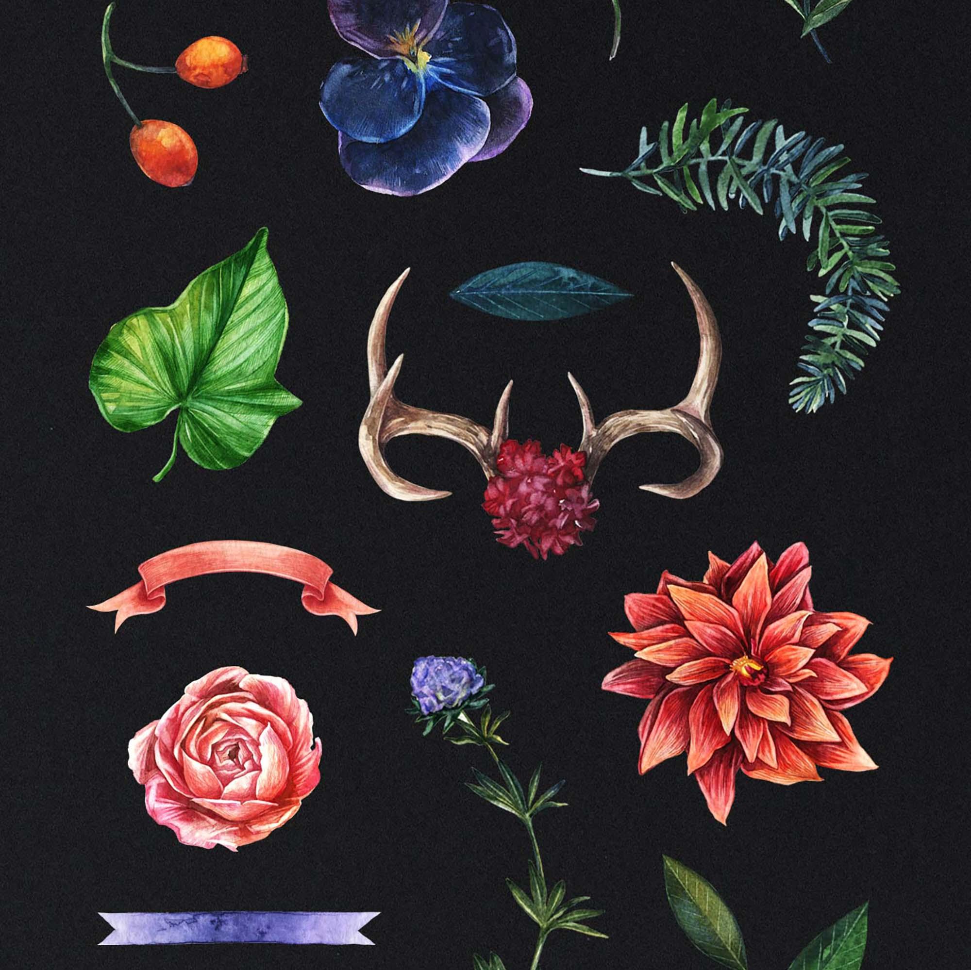 Enchanted Watercolor Clipart 2