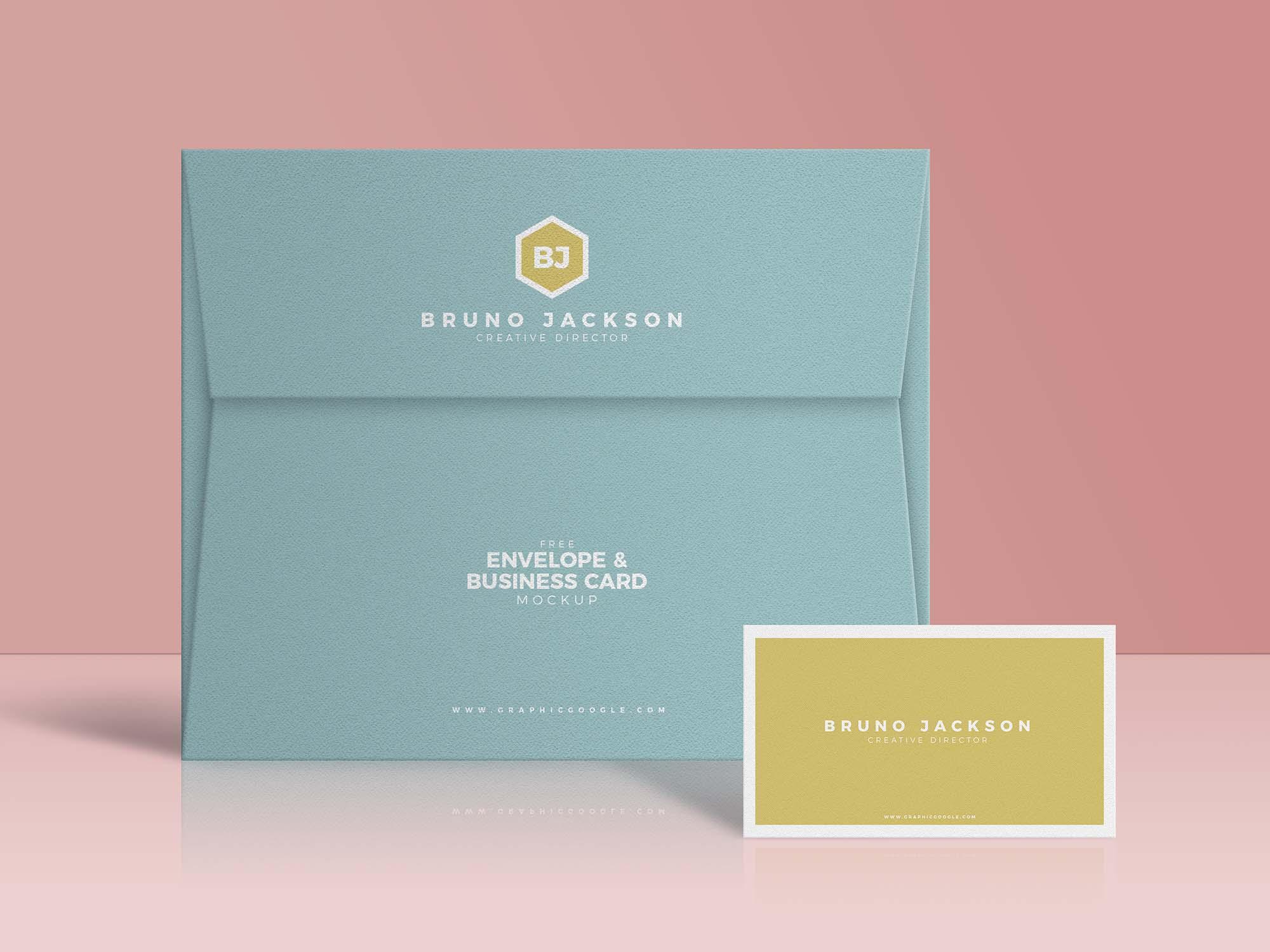 Envelope & Business Card Mockup